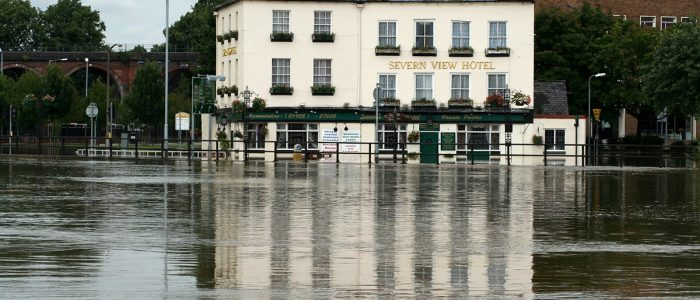 Flooded Severn View Hotel