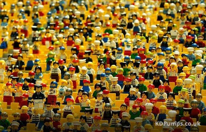 Crowd of Lego Figures