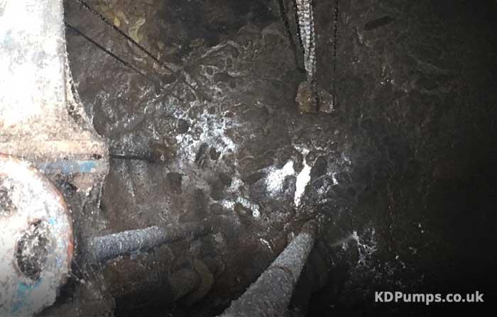 Blocked Sewage Pit